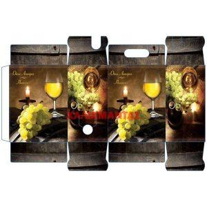 Χαρτοκιβώτιο Ασκού Κρασιού 5lt 116 White