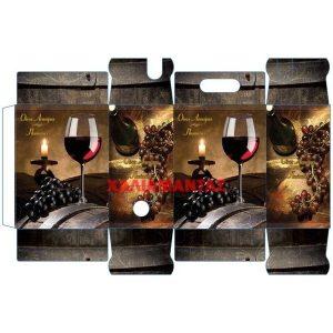 Χαρτοκιβώτιο Ασκού Κρασιού 5lt 116 Red