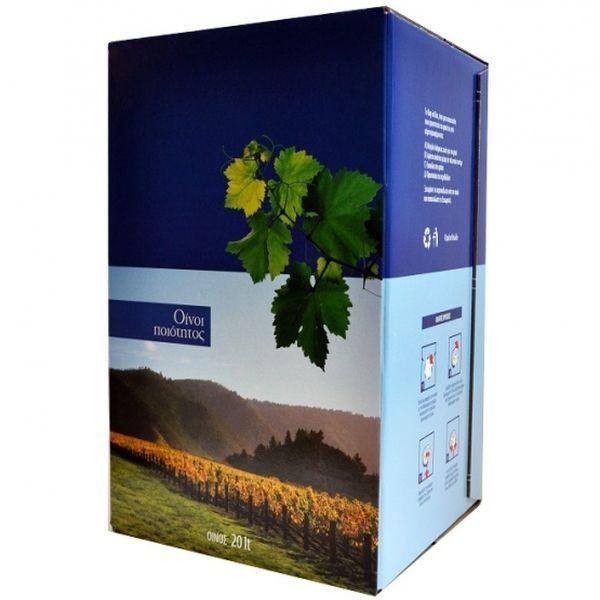 Χαρτοκιβώτιο Ασκού Κρασιού 5lt Αμπέλι